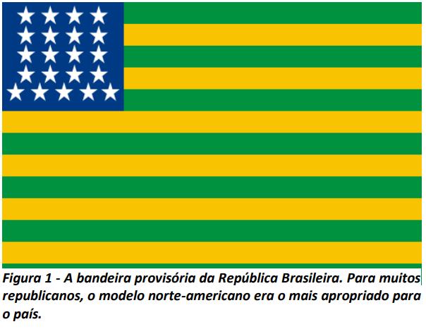 república no brasil - imagem do primeiro esboço da bandeira brasileira