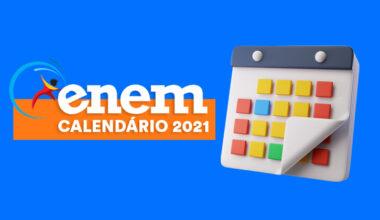calendário enem 2021