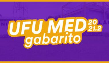 gabarito ufu medicina
